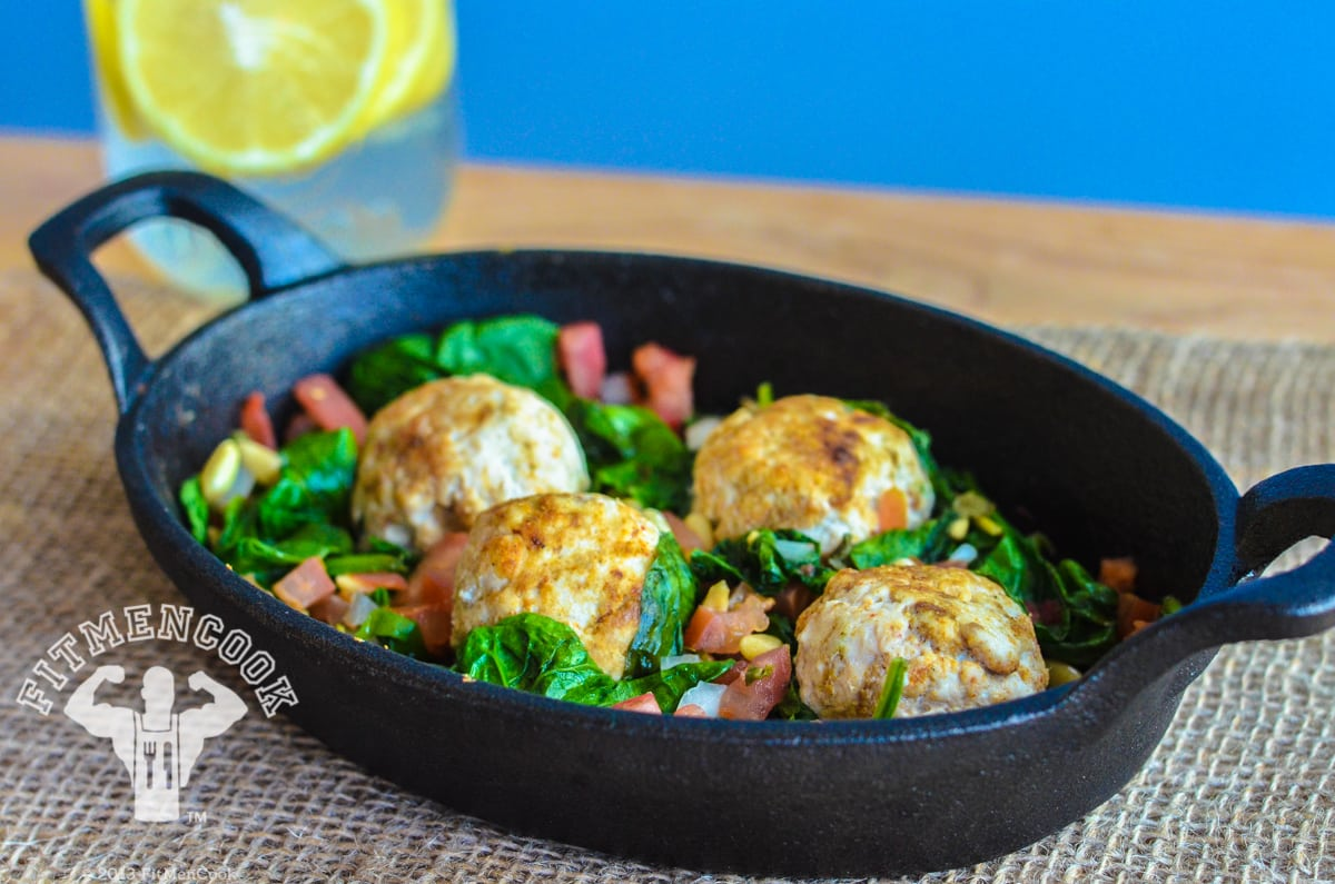 turkey meatballs with spinach recipe