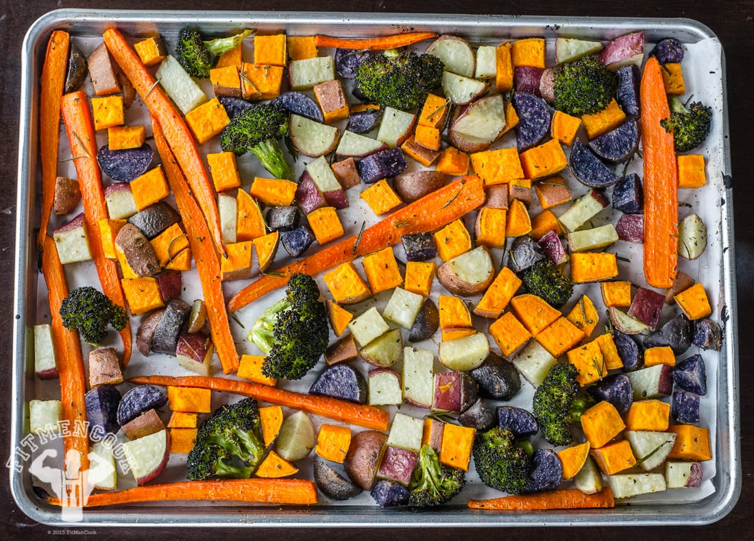 roasted vegetables for meal prep