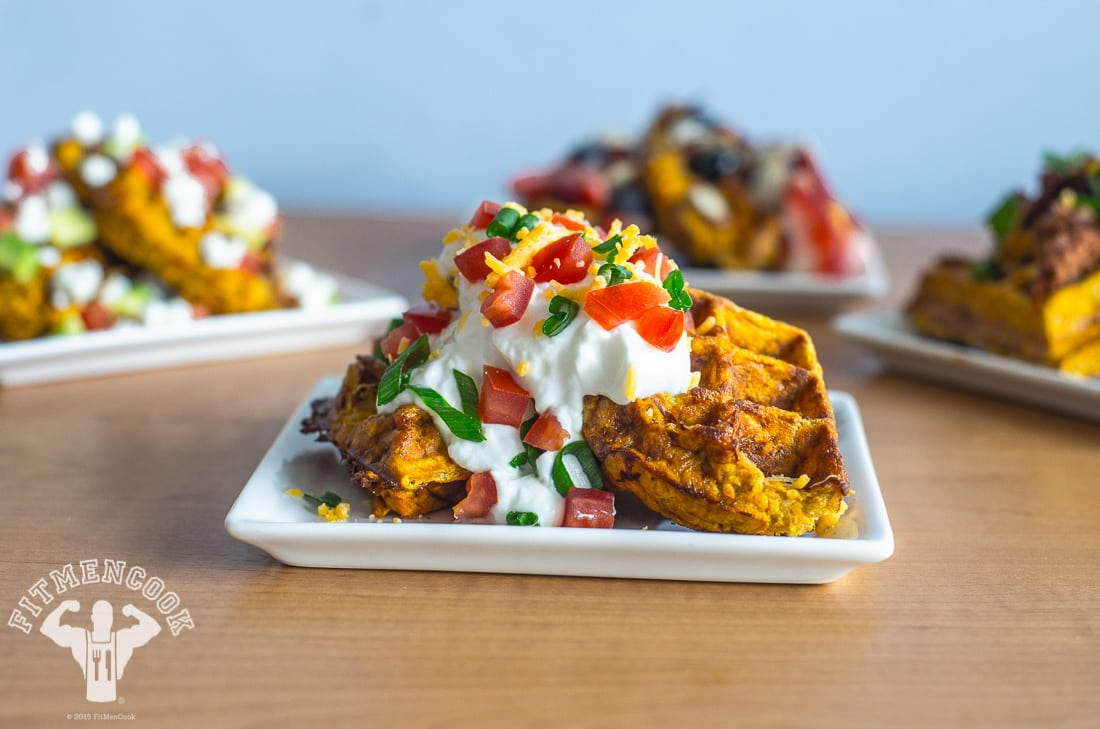 3-ingredient sweet potato waffle