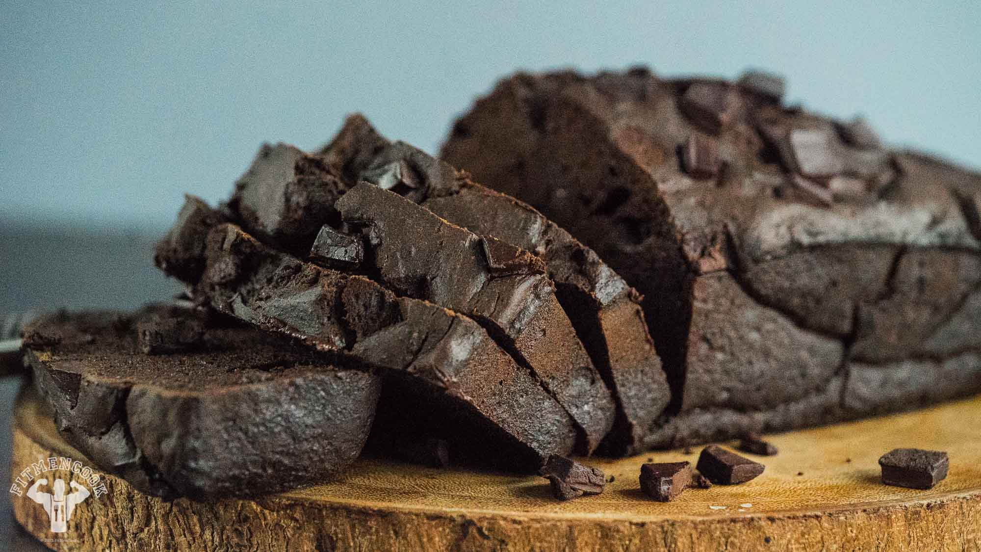 black dark chocolate banana bread