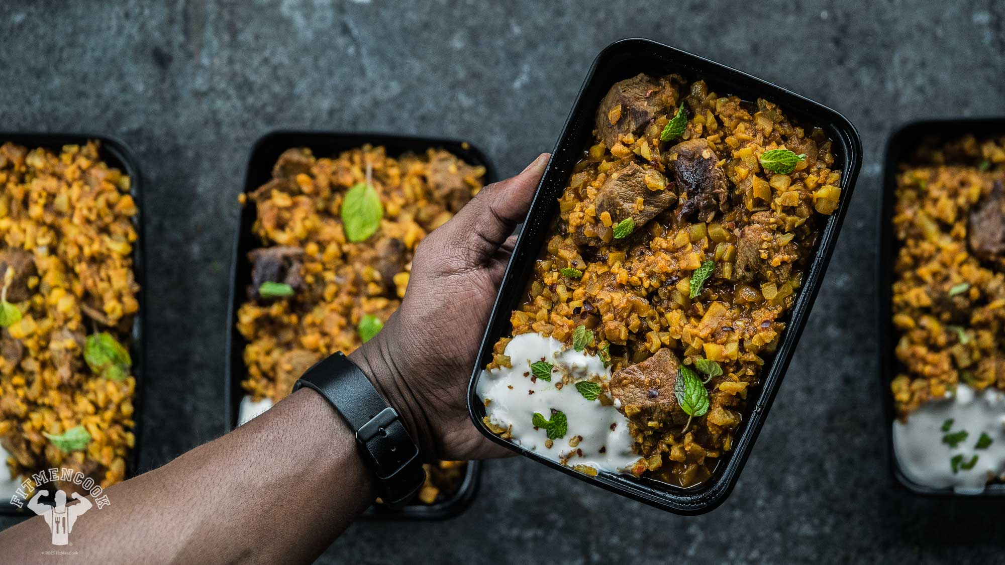indian lamb cauliflower rice