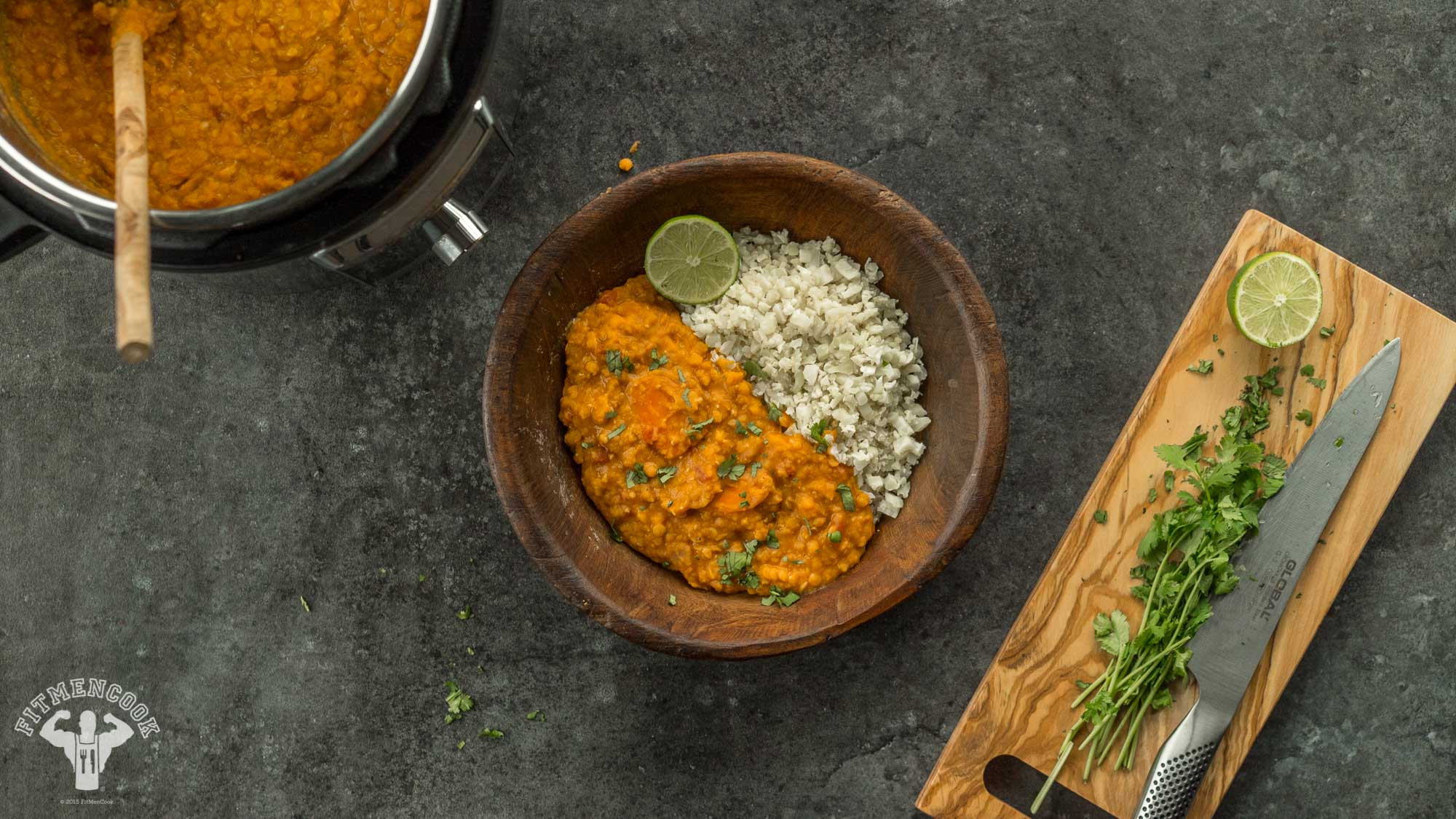 Instant Pot Creamy Red Curry Lentils