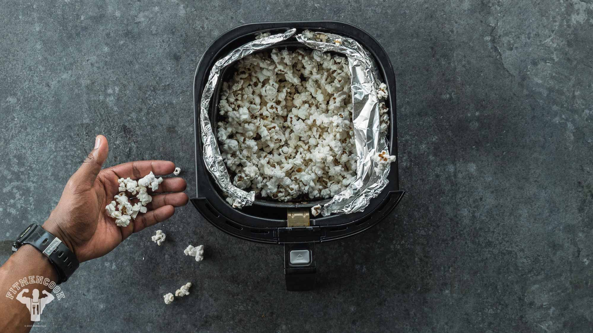 air fried popcorn