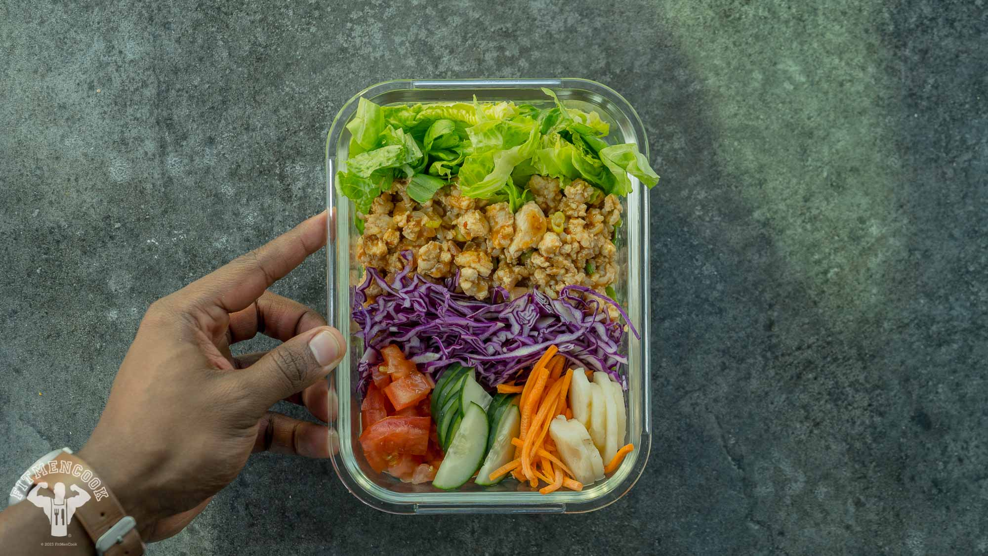 asian ground chicken salad