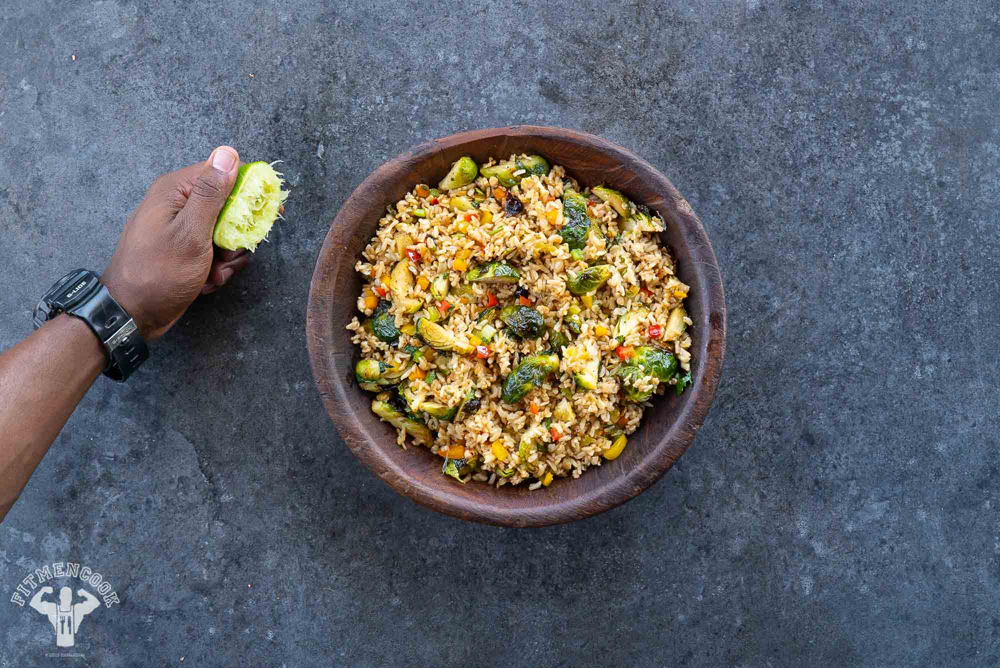 Brussels sprouts Fried Rice