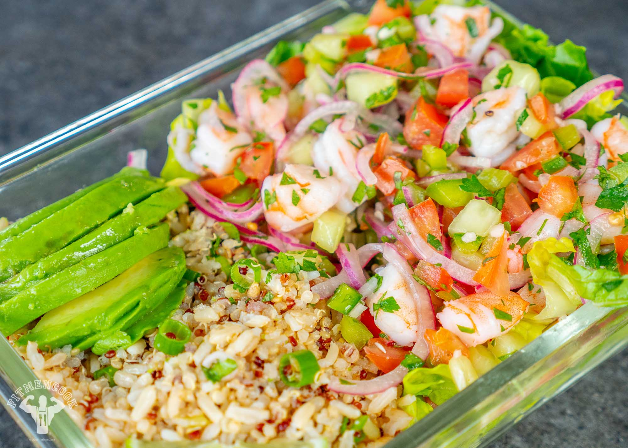shrimp ceviche meal prep