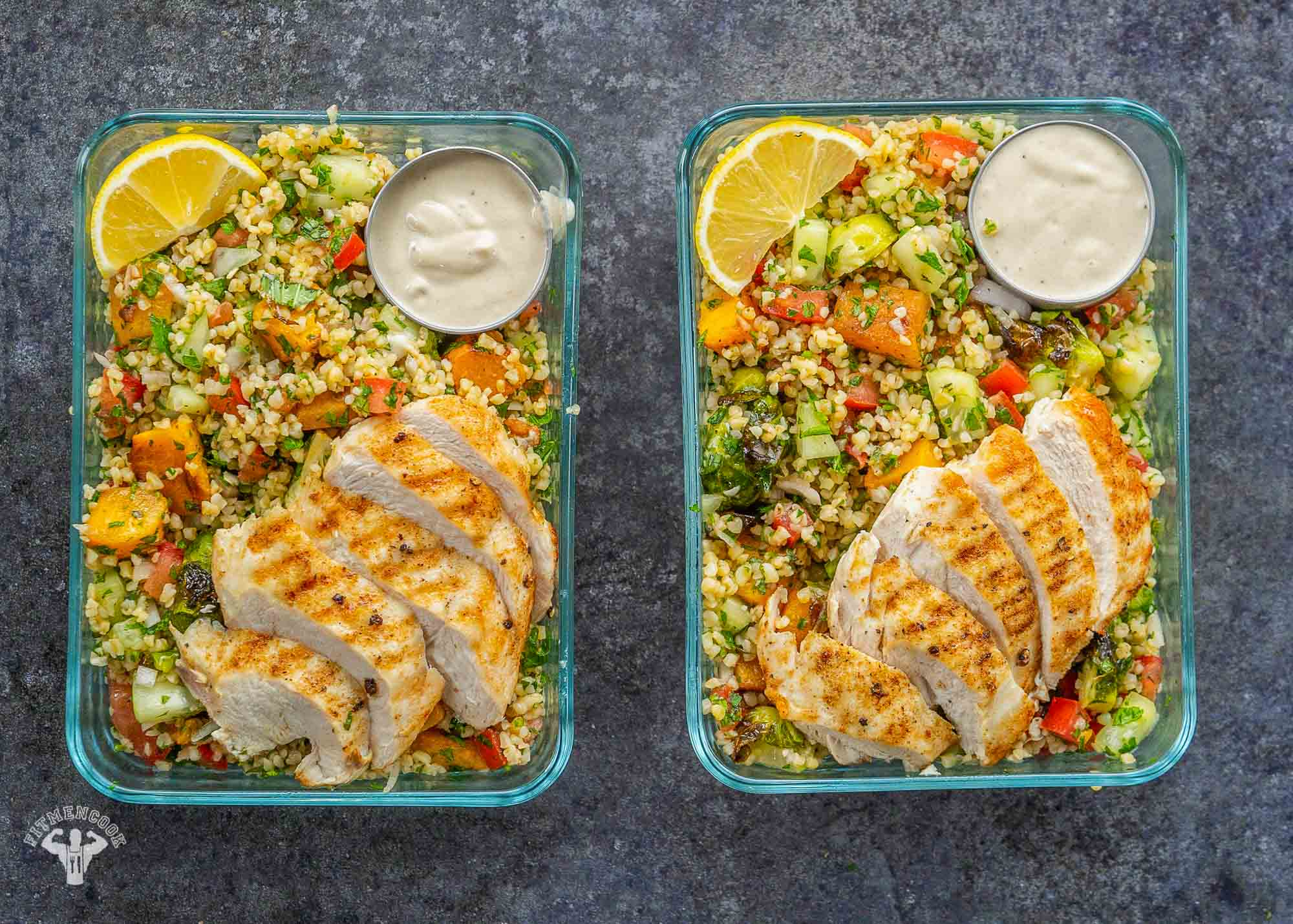 Chicken Tabbouleh with Roasted Veggies
