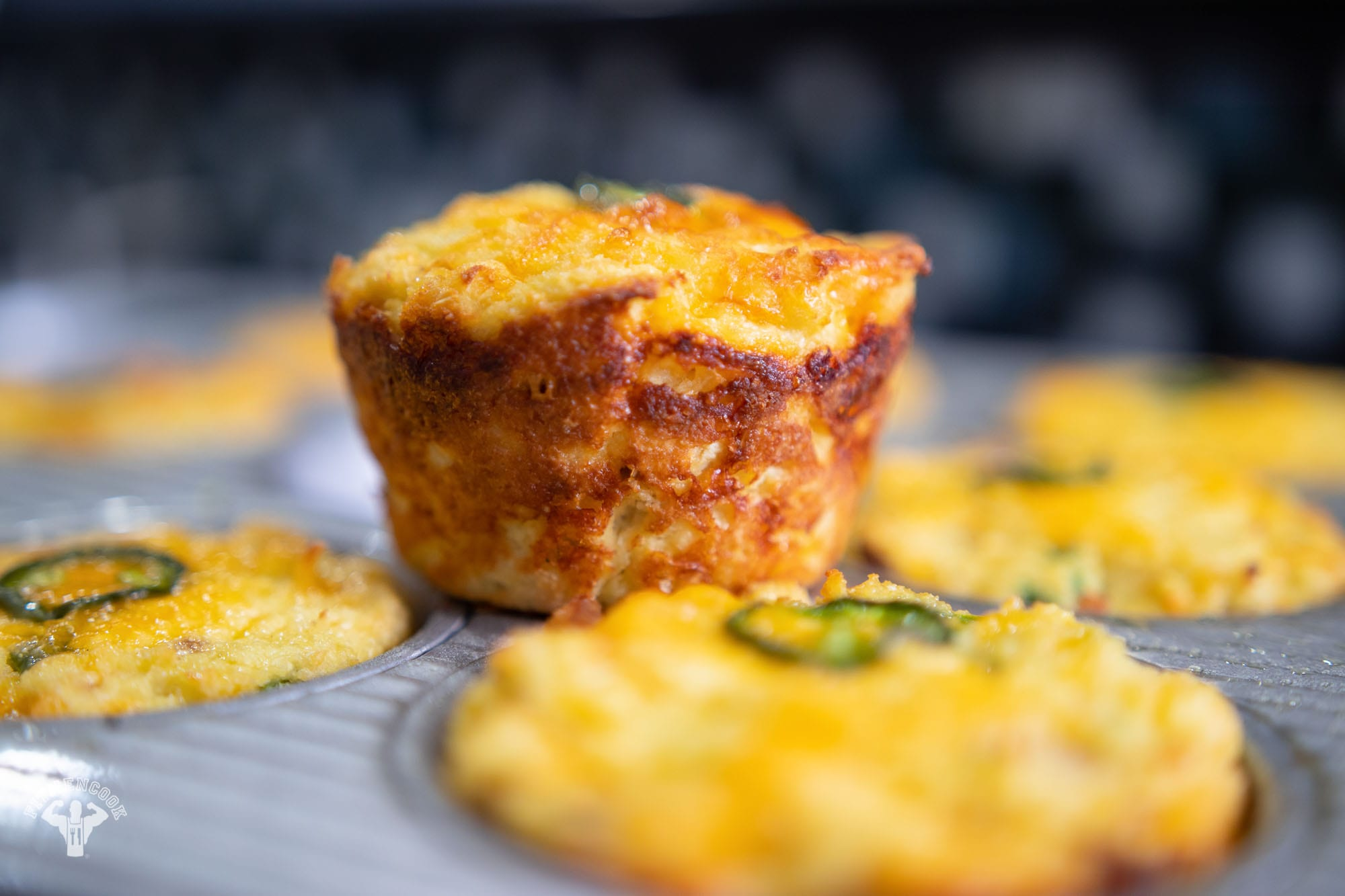 Low Carb Cheddar Bacon Muffins