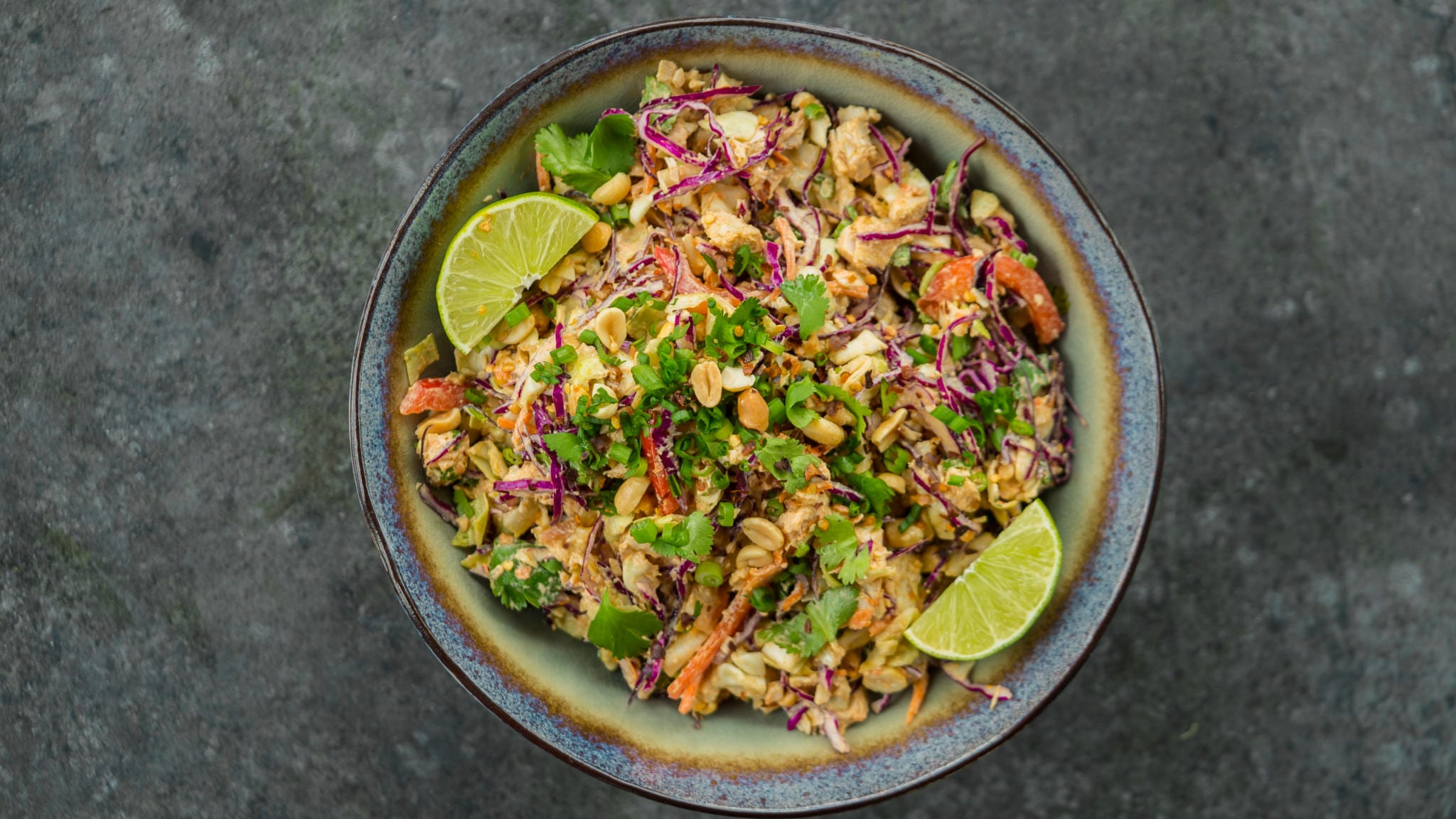 spicy asian peanut turkey salad