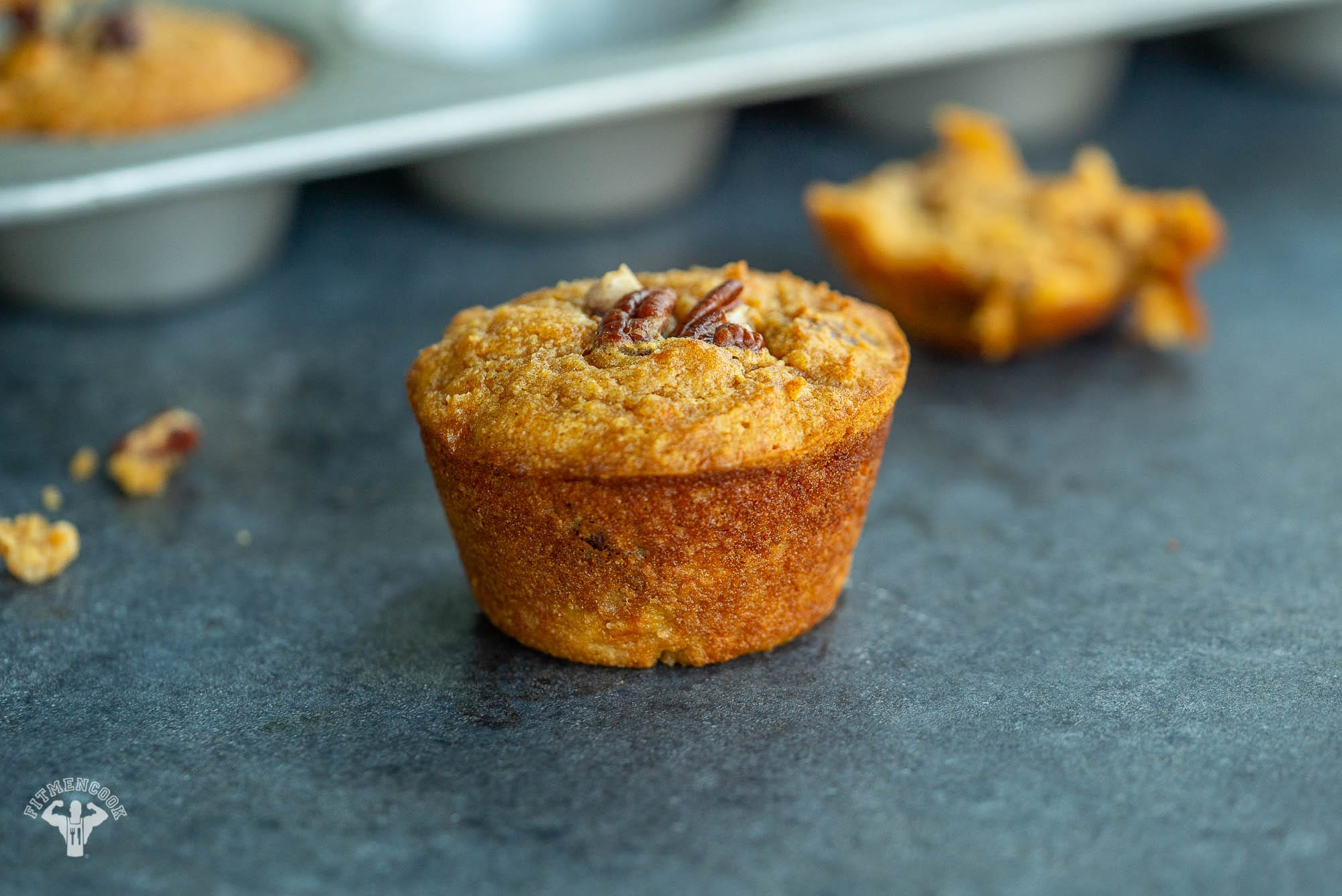 Maple Pecan Sweet Potato Muffins