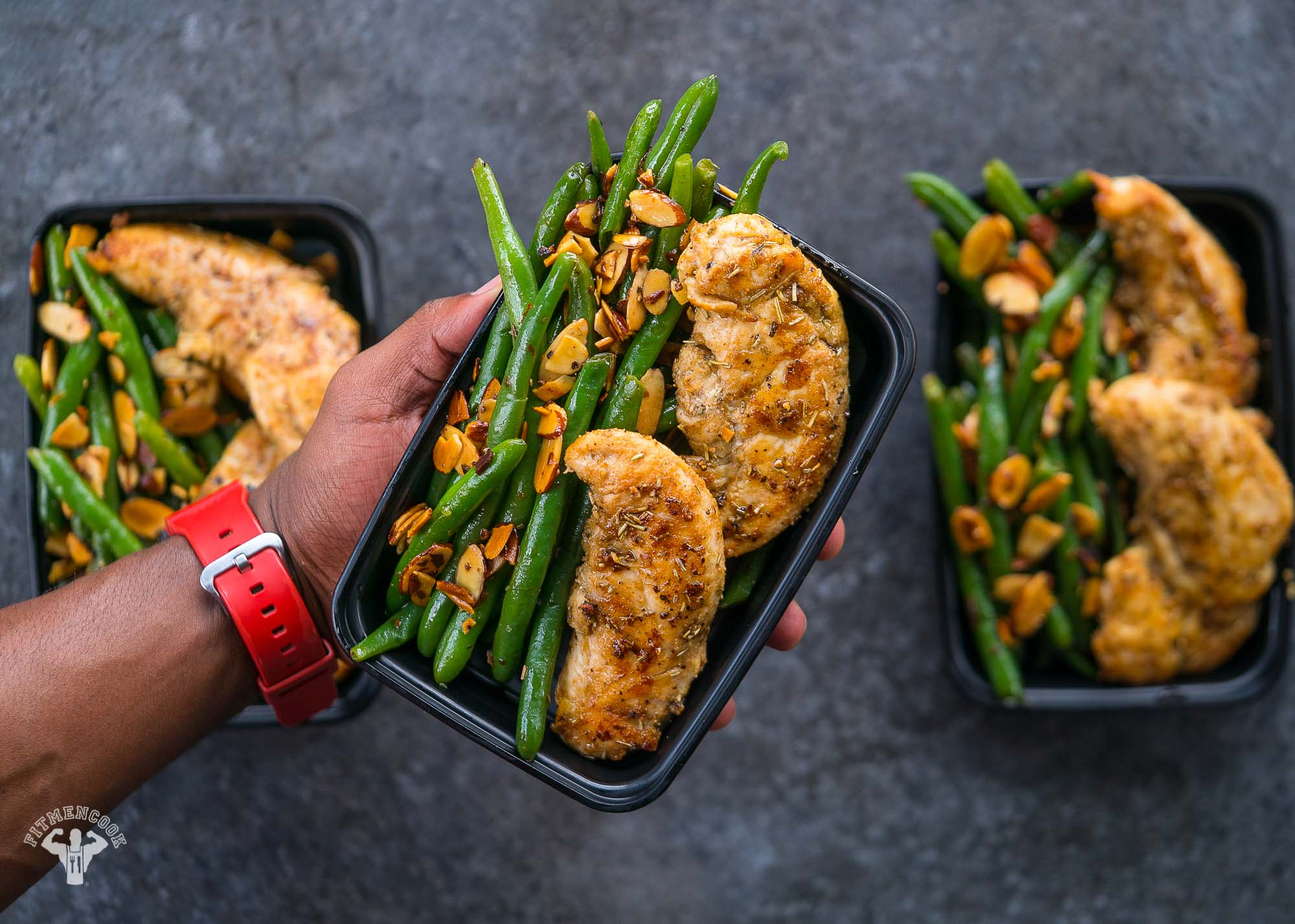 keto chicken and green bean almondine