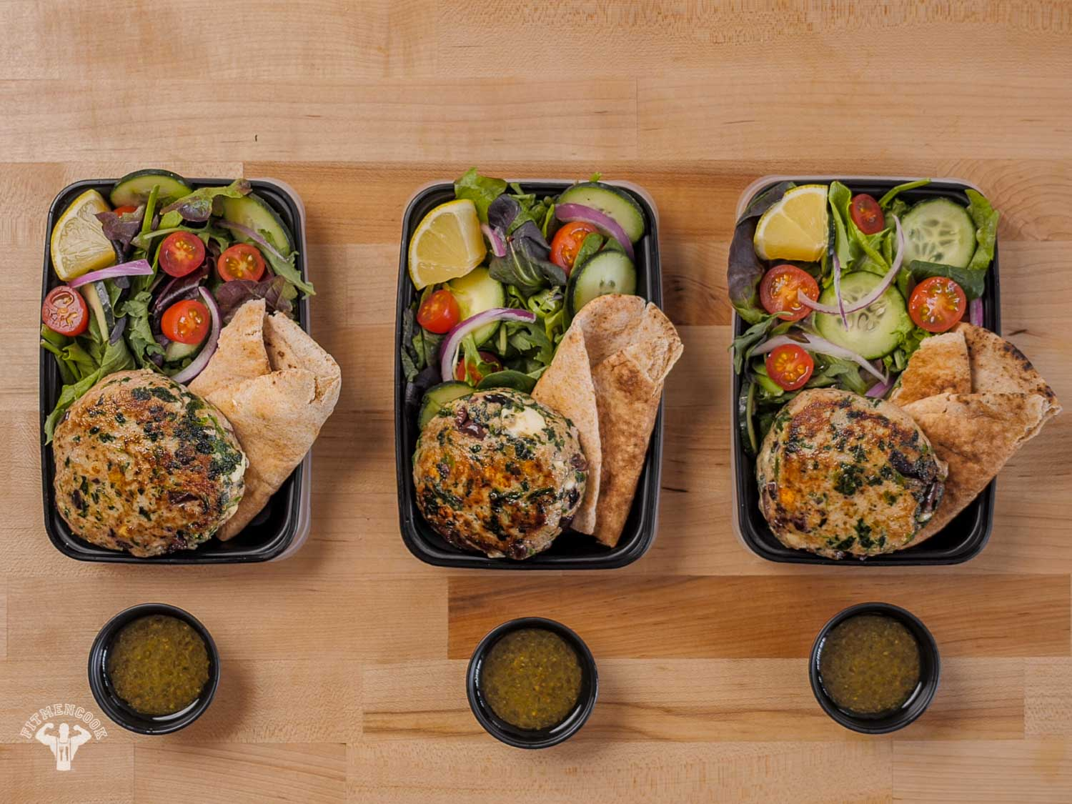 Mediterranean Greek Turkey Burger Meal Prep