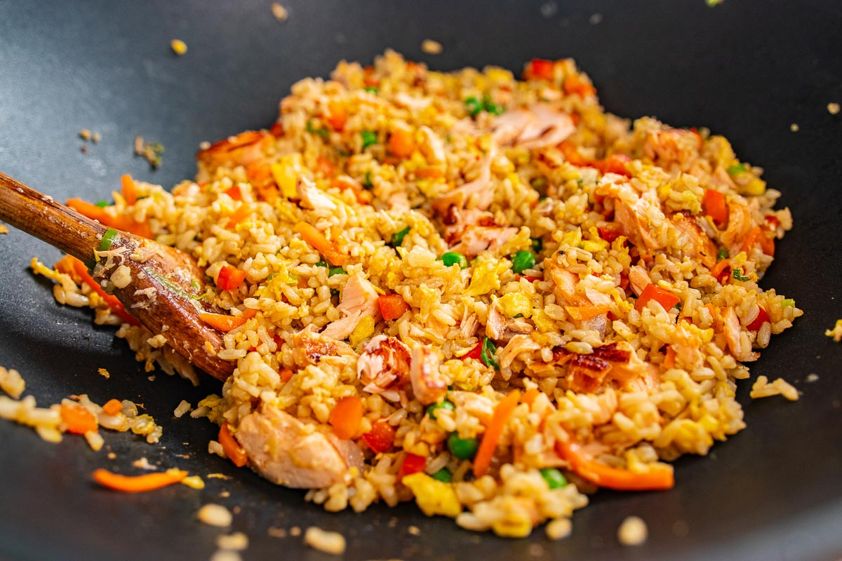 teriyaki salmon fried rice