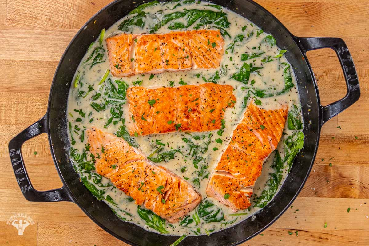 Creamy Dairy-free Dijon Salmon and Spinach