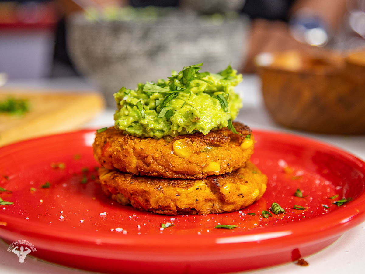 Chickpea Corn Fritters Patties