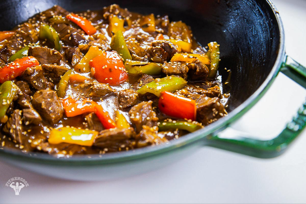 Low Carb Beef Pepper Steak
