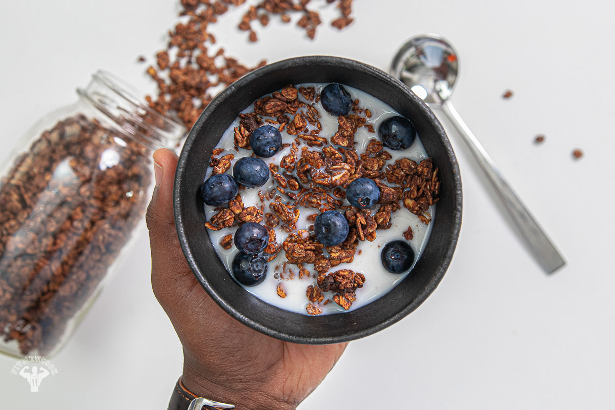 Gluten Free Chocolate Almond Butter Granola Cereal