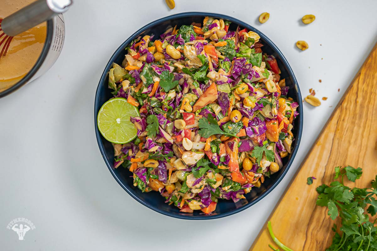 Thai-inspired Coconut & Peanut Chopped Salad