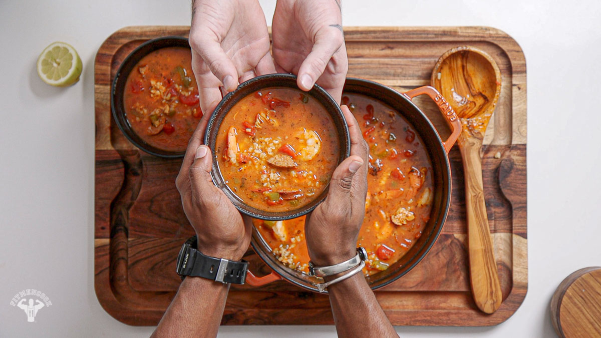 Jambalaya Soup Recipe - Fit Men Cook