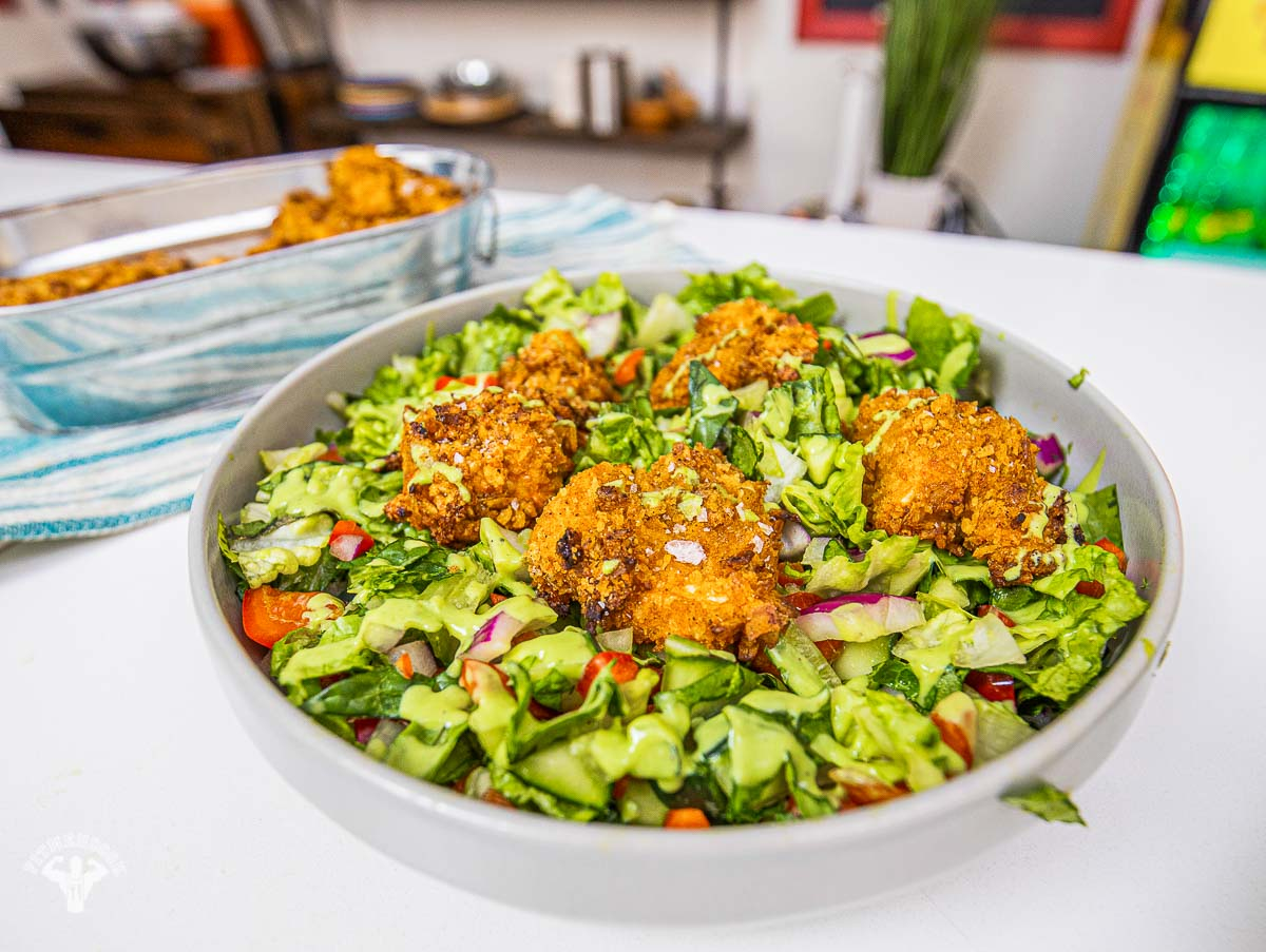 Plantain Popcorn Chicken (Chopped Salad)