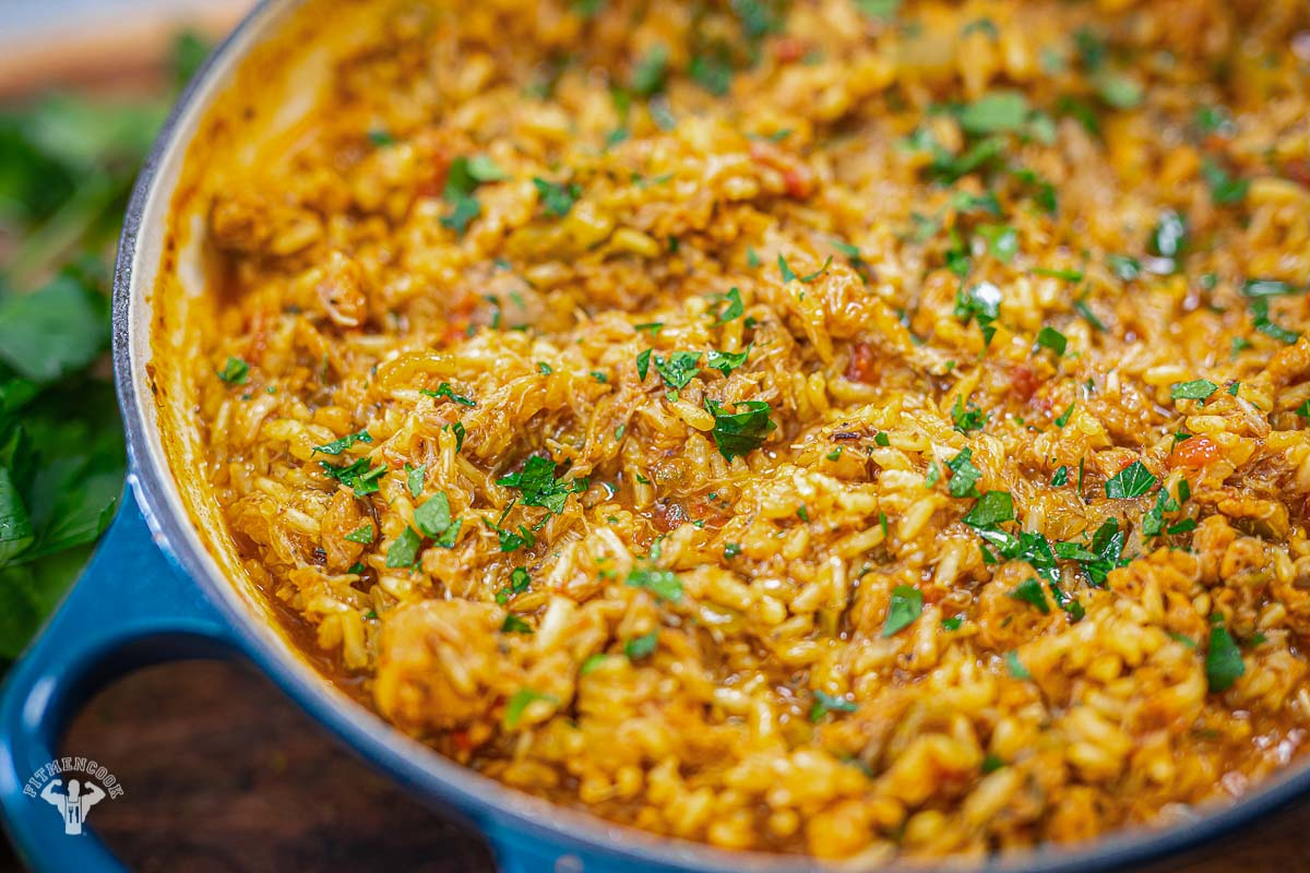 Pantry Cajun Chicken and Rice Recipe - Fit Men Cook