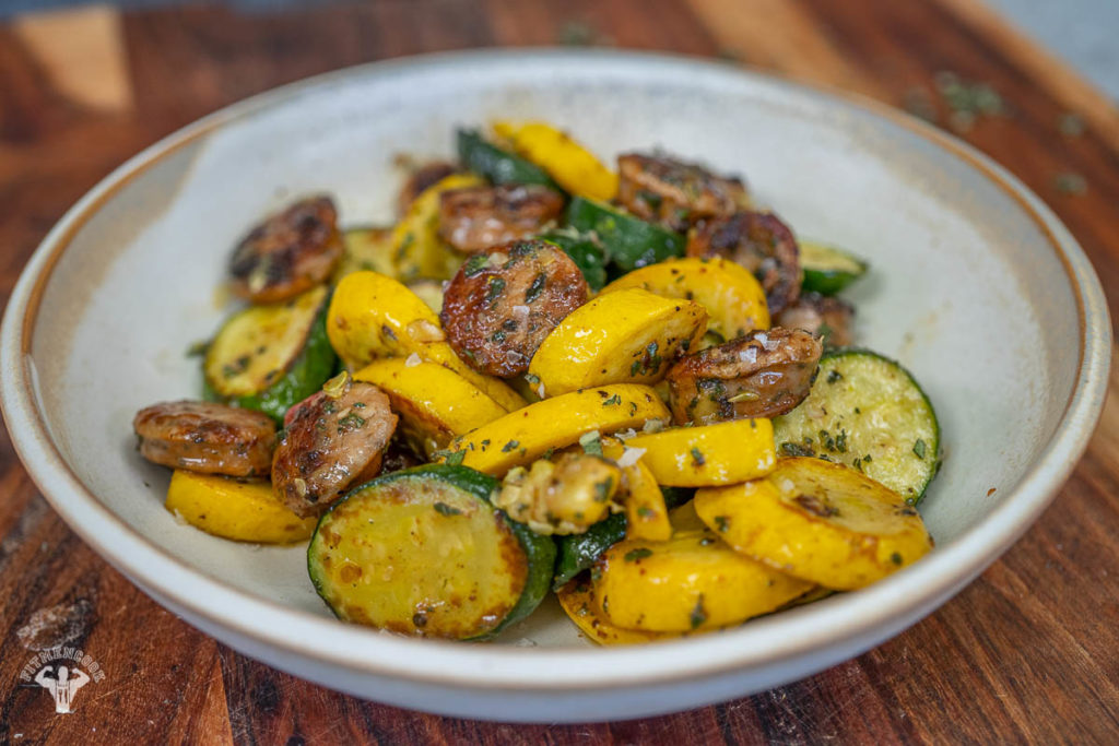 5-Ingredient Sage Butter Chicken Sausage & Squash - Easy Dinner