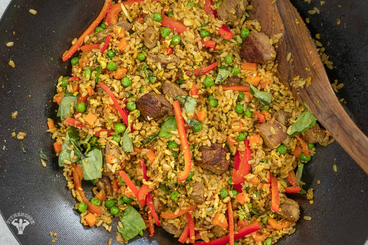 lamb curry fried rice